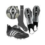 What are the basic football players' equipment?