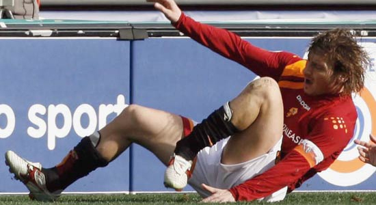 Francesco Totti injury