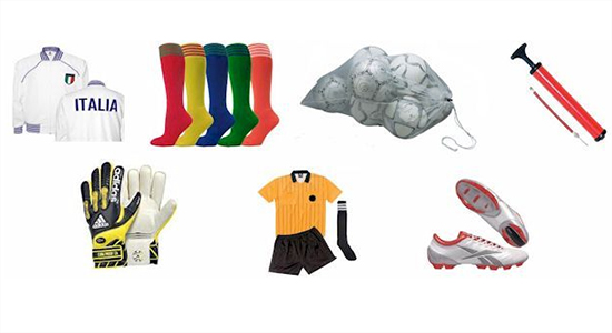 soccer playing gears
